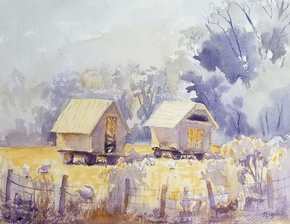 Codman Farm hen houses