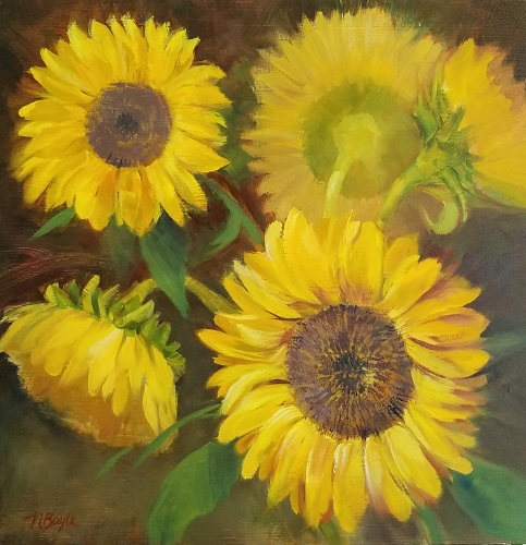 Sunflowers-oil on panel-by Nancy Boyle 12x12 -500W.jpg