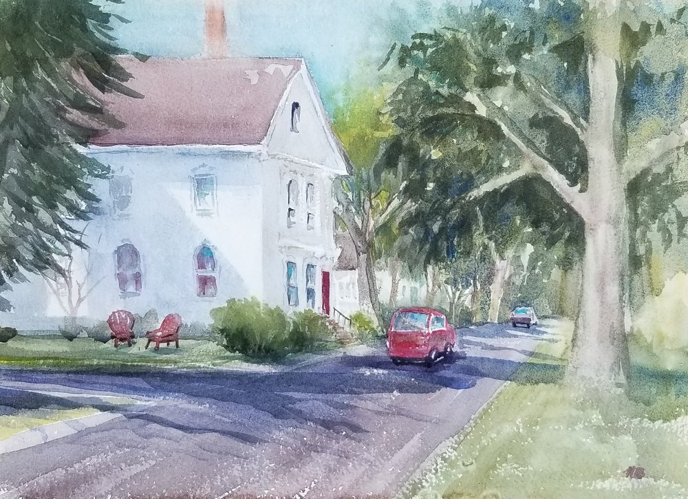 Coastal Maine town-12x16 by Nancy Boyle.jpg