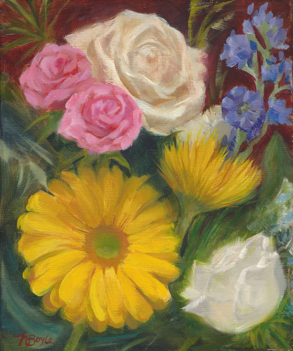 Bouquet-oil on canvas-8x10-by Nancy Boyle.jpg