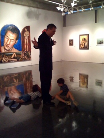 Lecturing at the 2009retrospective exhibition of my paintings in Athens, Georgia