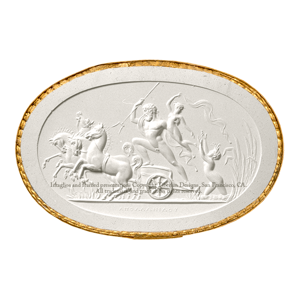 Tiberian Intaglio No. 17  Pluto carrying off Prosepine in a quadriga.