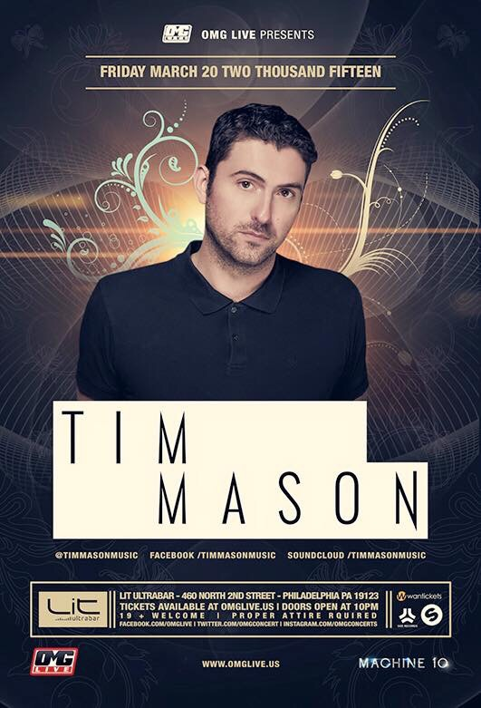 Tim Mason - Live this week at Lit UltraBar