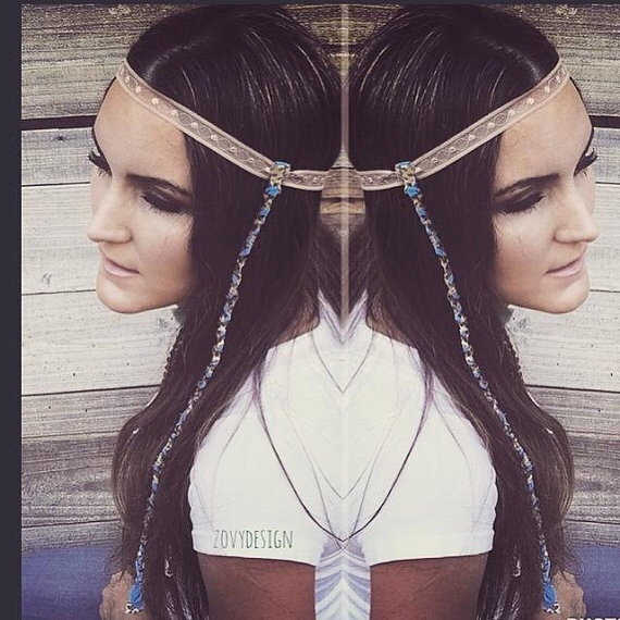 Bohemian Strand Headband, Boho Wear, Boho Fashion, Native Headbands