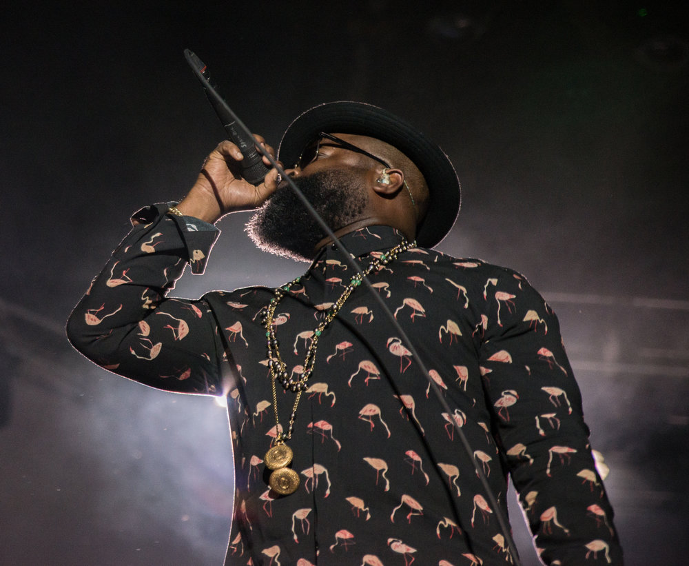 Black Thought performs on the North Stage with The Roots
