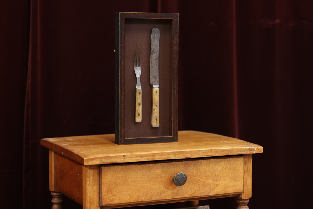 Knife and Fork in Shadowbox Frame