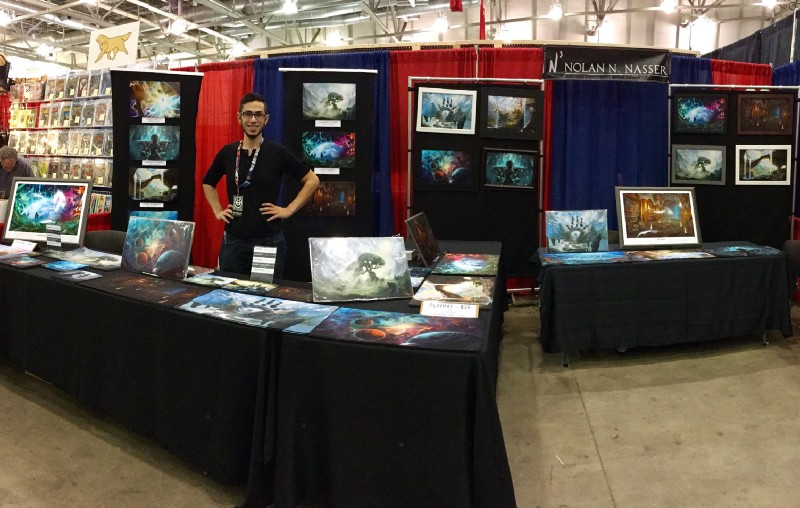 My booth at Grand Rapids Comic Con 2016