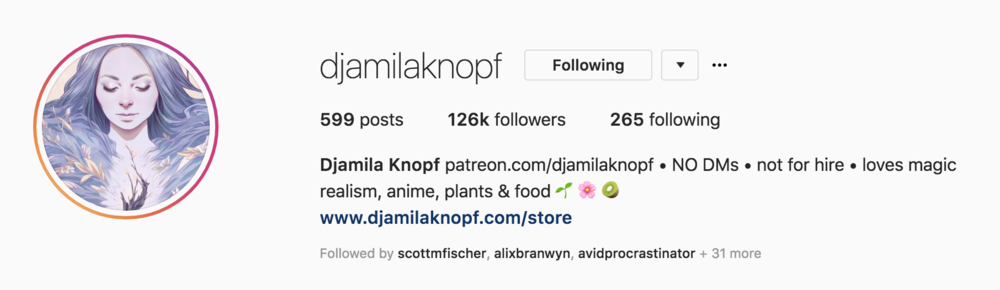 Djamila Knopf on Instagram