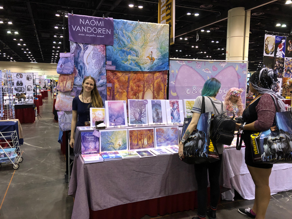 A 6ft Artist Alley table at Megacon Orlando