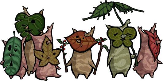 Koroks from the Legend of Zelda