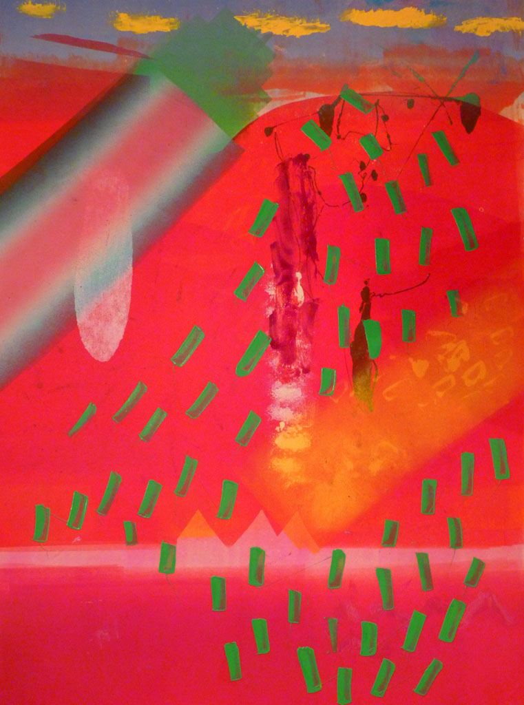 Blue Sky, Red Land, Yellow Sand. Monoprint. Kieron  Farrow.(1).jpg
