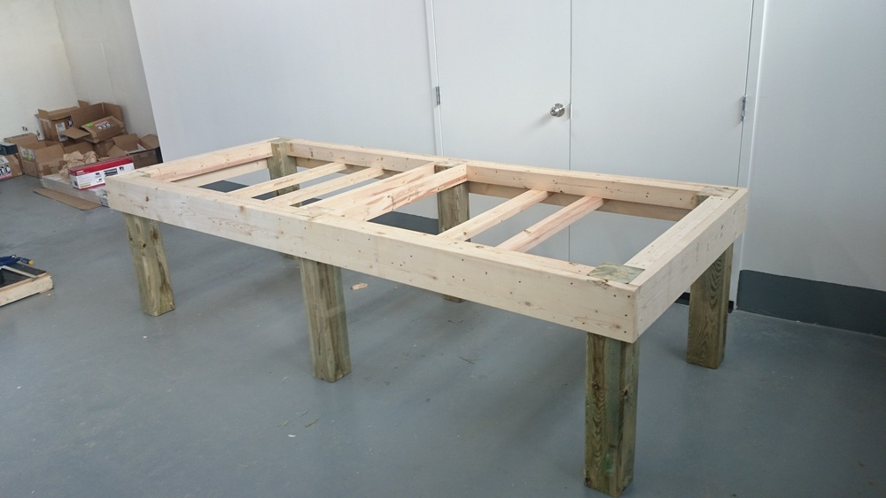 The finished table; ready to drop a CNC on top.