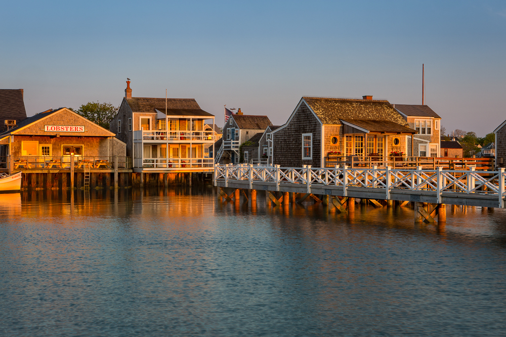 The Sun is rising and the day is beginning in Nantucket.