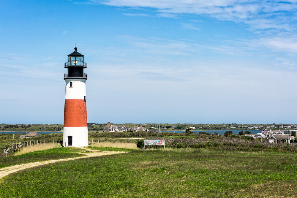 Sankaty Lighthouse on Nantucket Island.