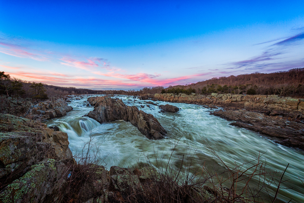 Here is Great Falls at sundown.