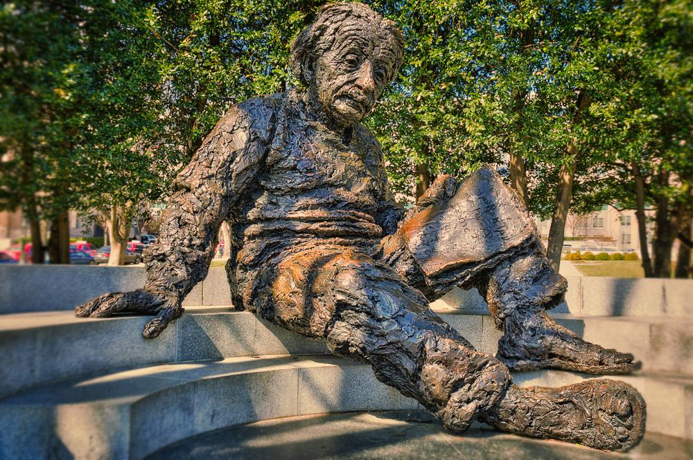 Albert Einstein in the later afternoon.