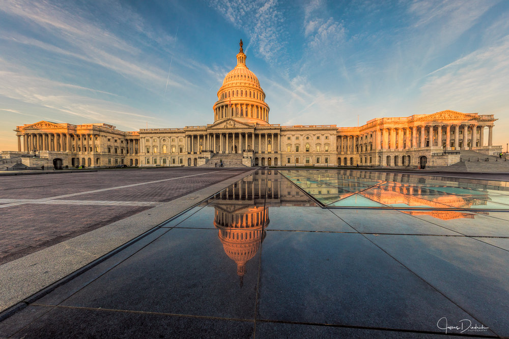 The front of the US Capitol