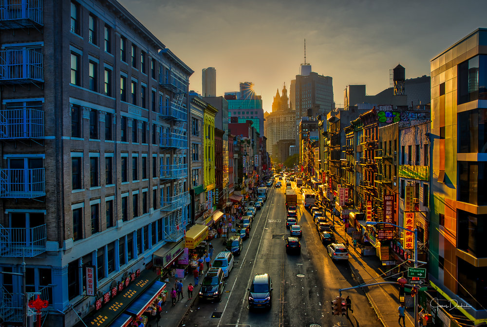 China Town in New York as seen from Manhattan Bridge