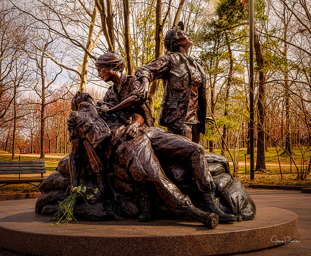 The Women's Memorial at the Vietnam Memorial.
