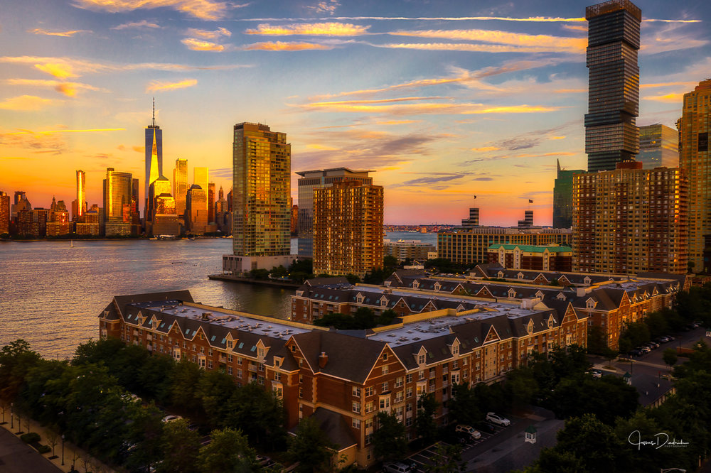 Sunset photo from Jersey City.