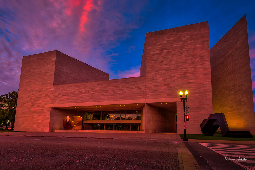 This is the East Building and was designed by I.M. Pei. and opened in 1978.