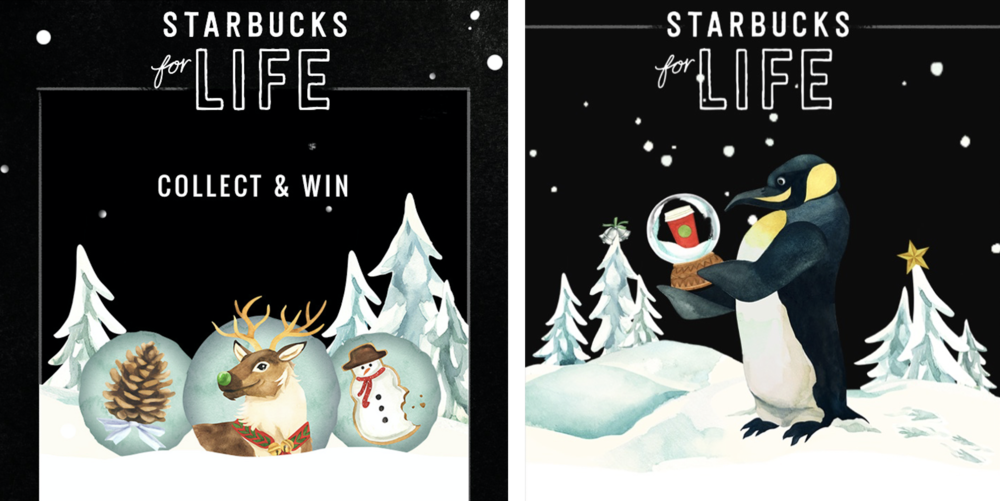 Starbucks  |  for their annual holiday game starbucks for life