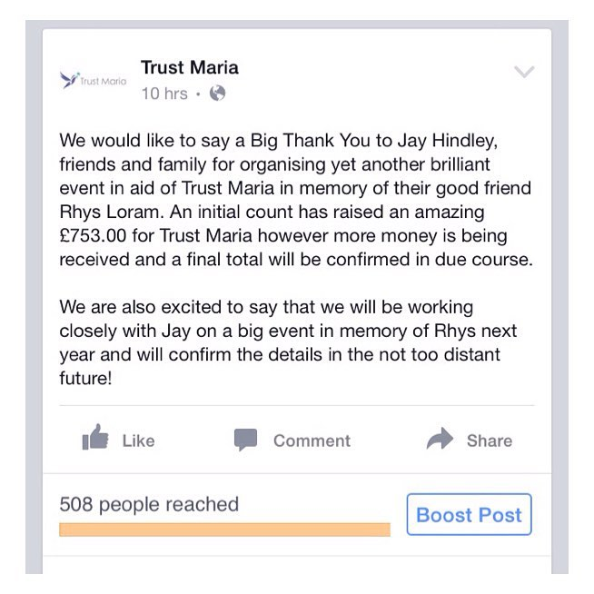 We cannot thank Jayy enough for all his hard work and putting on a charity night in memory of Rhys Loram for Trust Maria!  #charity #event #music #suffolk #trustmaria
