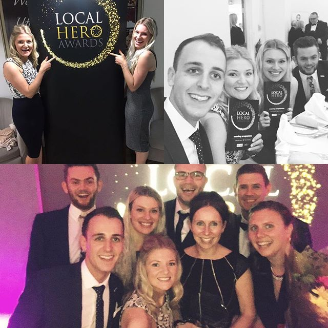 Last night we had the pleasure of sponsoring the Town 102 FM Local Hero awards and present the Fundraiser of the Year award to a well deserved winner Crystal Barber who set up The George Woodward Fund.  We had such a brilliant night and it was so lovely to hear about all of the well deserved and inspirational winners. @town102