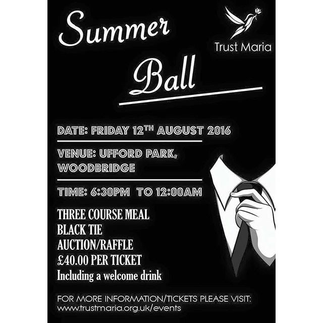 Tickets for our Summer Ball still available - purchase yours now.  All tickets and menu choices must be bought and chosen before 31st July!