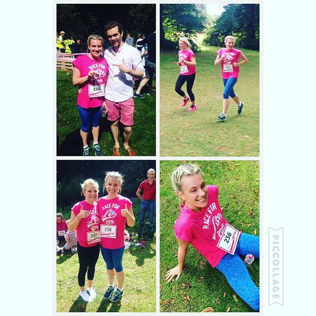 Well done to Sapphire Cole & Katy Bobby for running the Race For Life on Sunday for Trust Maria, completing the 5k in 34 minutes! #raceforlife #letsbeatcancer #charity