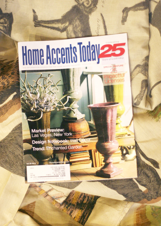 Home Accents Today cover featuring kalalou's giant trophy vases