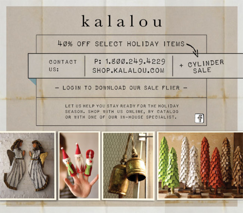 40% off select holiday items