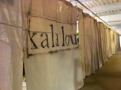kalalou curtains in High Point showroom