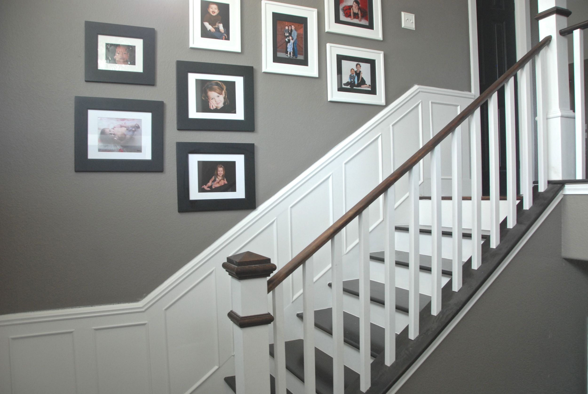 Step 7 After a summer in Europe and falling in love with picture frame moulding & The Foyer Project The Rozy Home