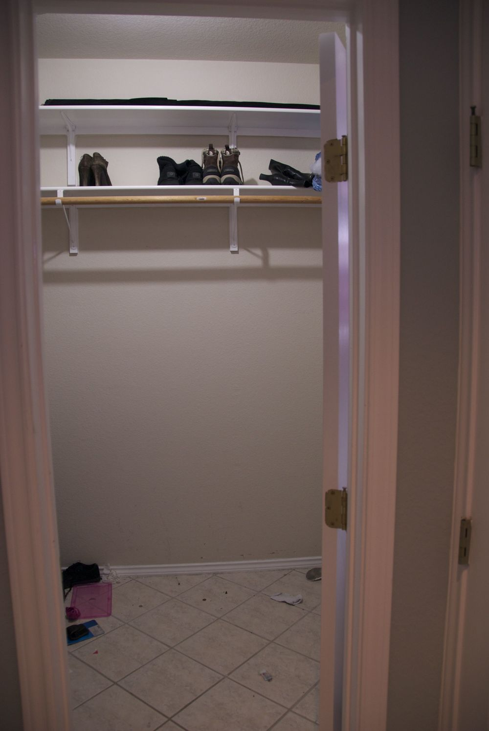 Builder basic closet - The view from the door