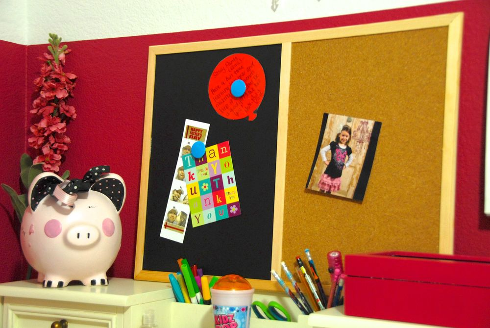 Her bulletin board that is part of an upcoming project.