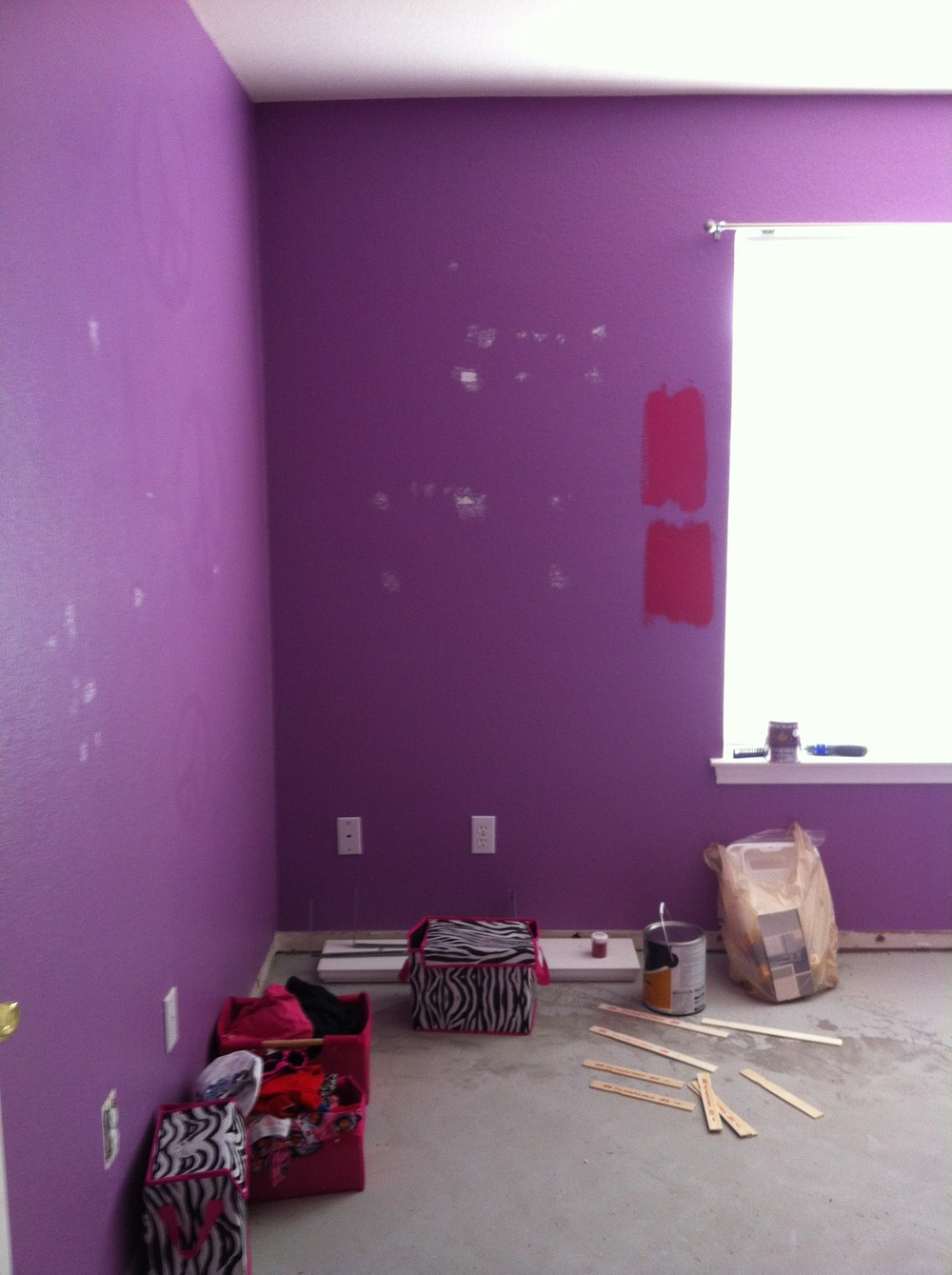 Before: The purple room