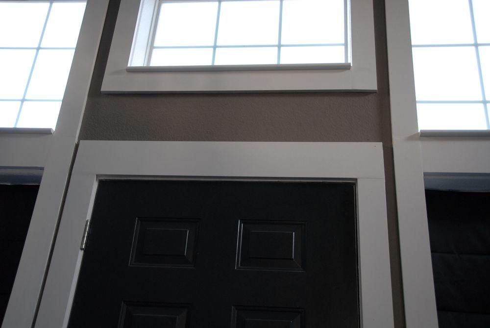 The door trim before