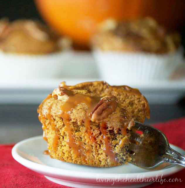 Pumpkin Caramel Muffin with Pecan Streusel