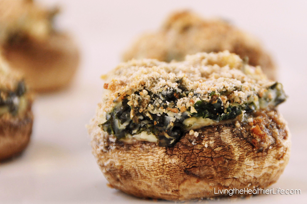 kale stuffed mushrooms