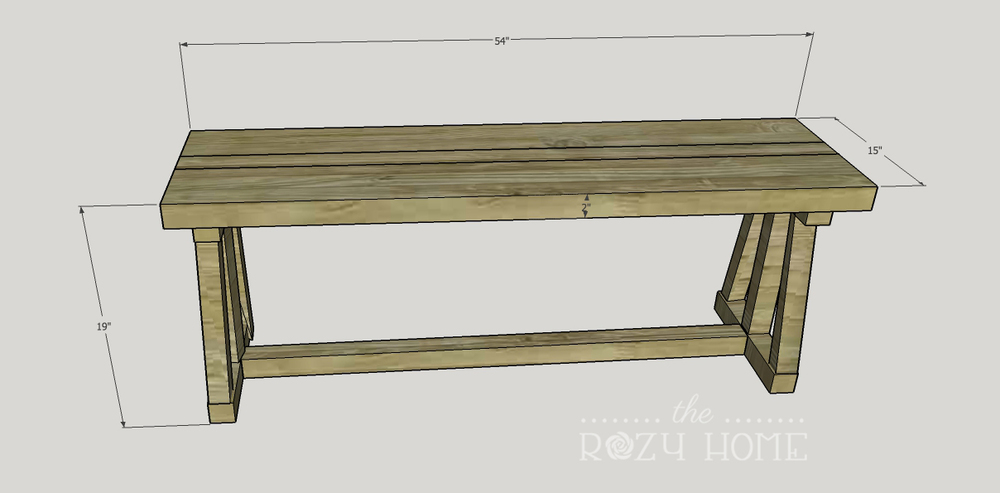 Awesome THE ROZY DINING BENCH PLANS. CUT LIST: Written As Depth X Width X Length