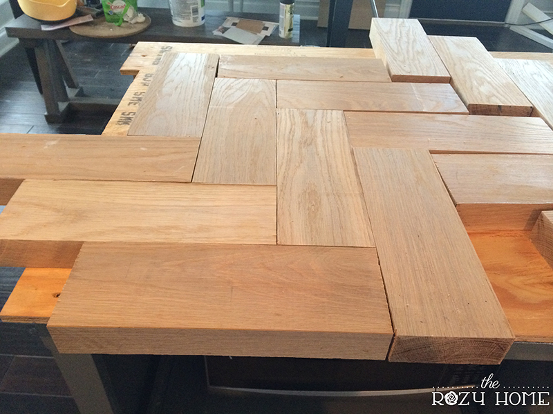 build kitchen countertop diy herringbone wood countertops the rozy home 228