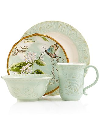 Dinnerware Fitz and Floyd Toulouse 4 pc place setting in green. .fitzandfloyd.com.  sc 1 st  The Rozy Home & Me? On TV?? The Rozy Home