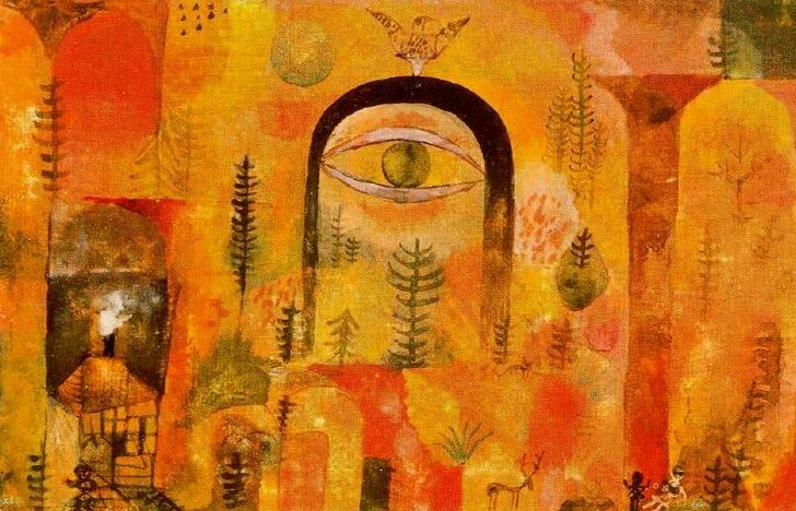 Paul Klee - 'With The Eagle' - 1918