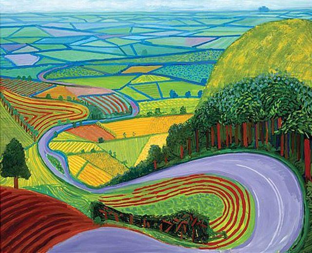 'Garrowby Hill' -David Hockney