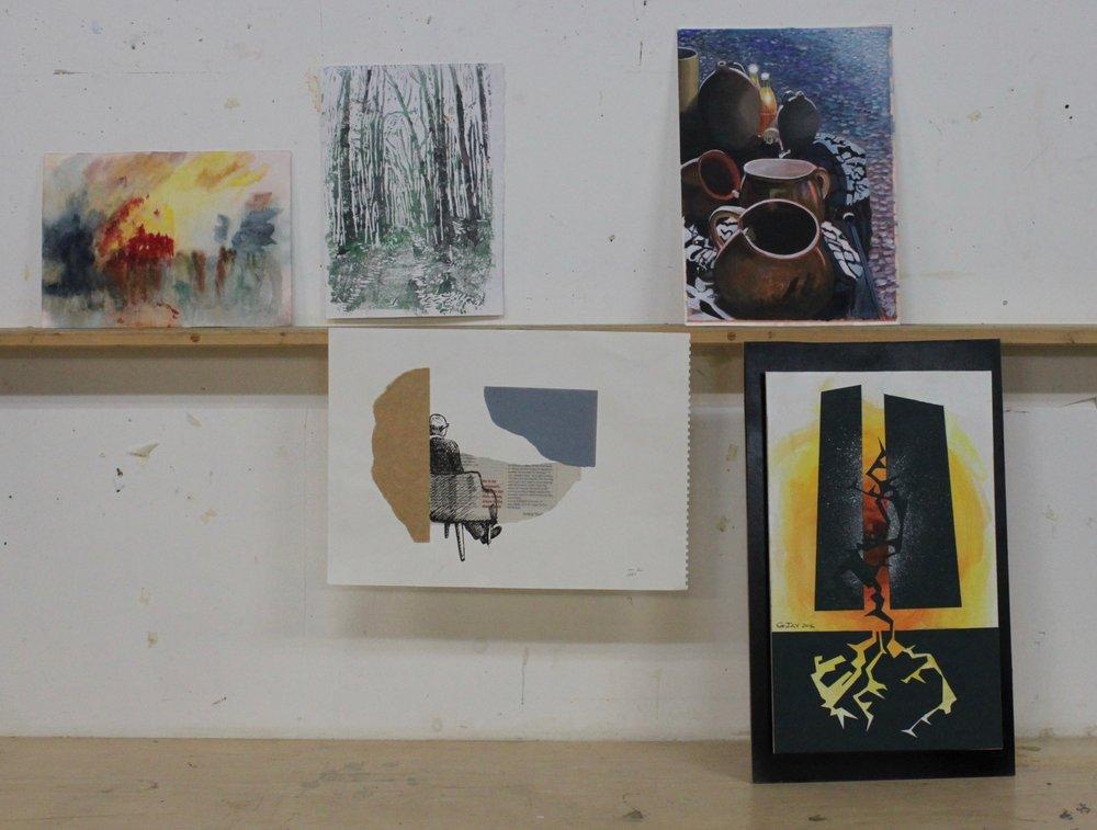 Work by Tania, Shirley, John and Gareth