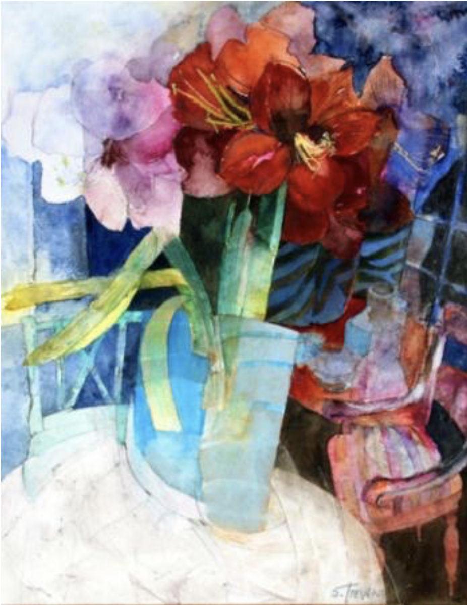 Painting by Shirley Trevena