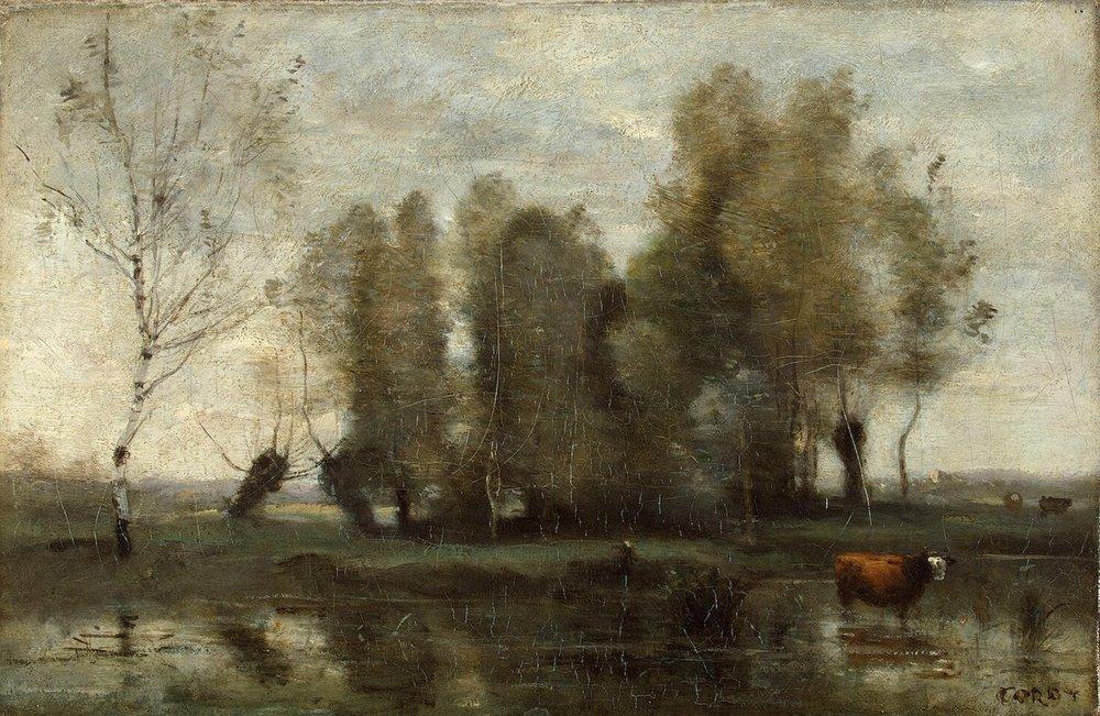 Corot Jean-Baptiste Camille - Trees in a Swamp.jpg
