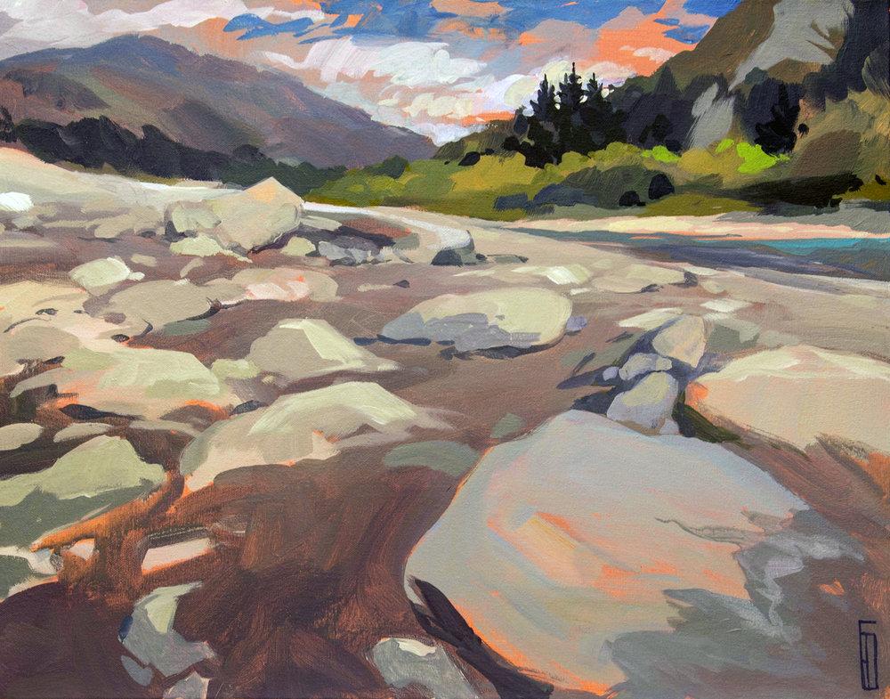 Shotover River, acrylic, 45x55cm.jpg
