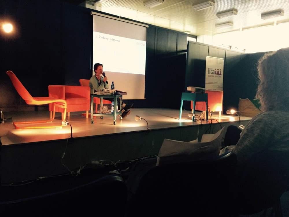 Prvú prednášku viedla právnička Martina Stašíková z LITA.